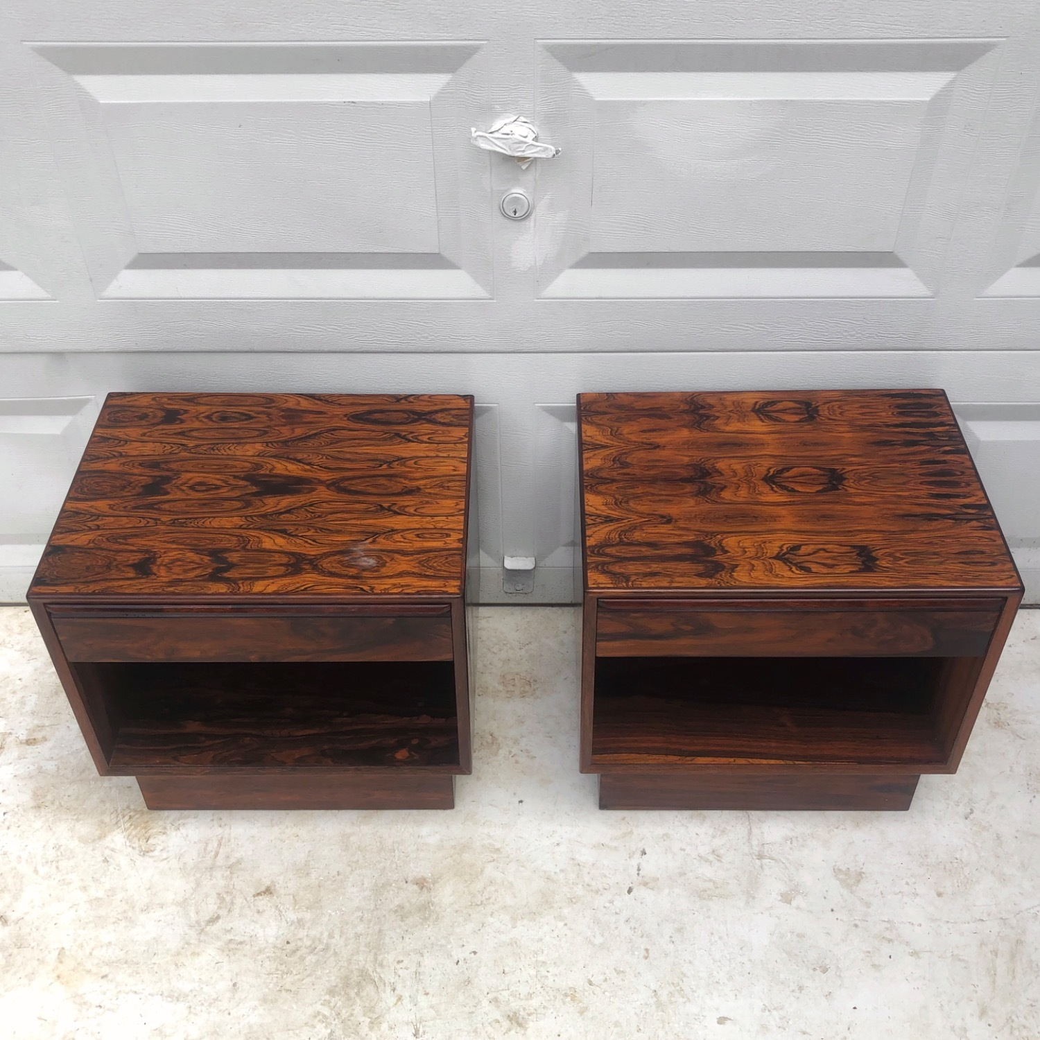 Mid-Century Rosewood Nightstands- a Pair - image-4
