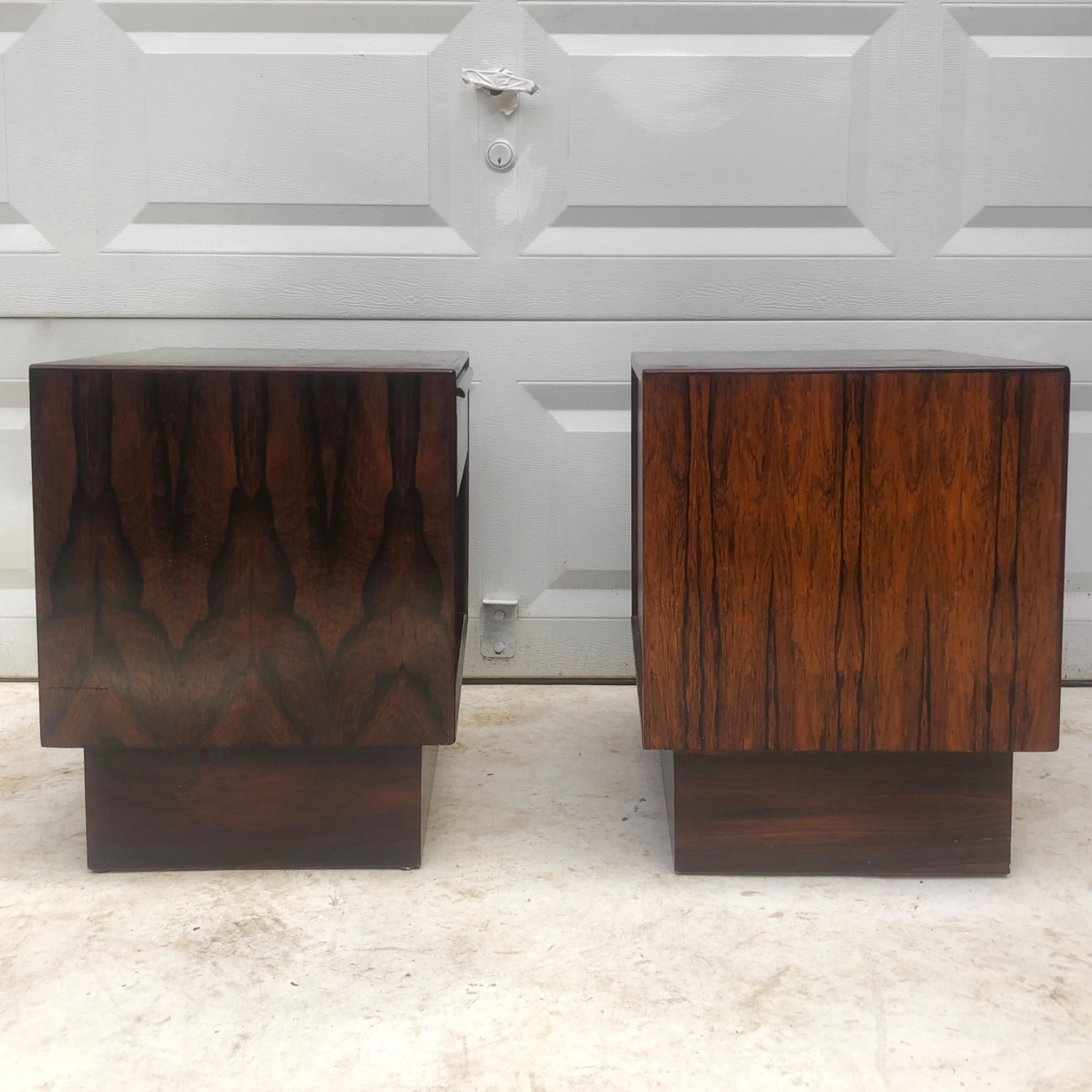 Mid-Century Rosewood Nightstands- a Pair - image-7