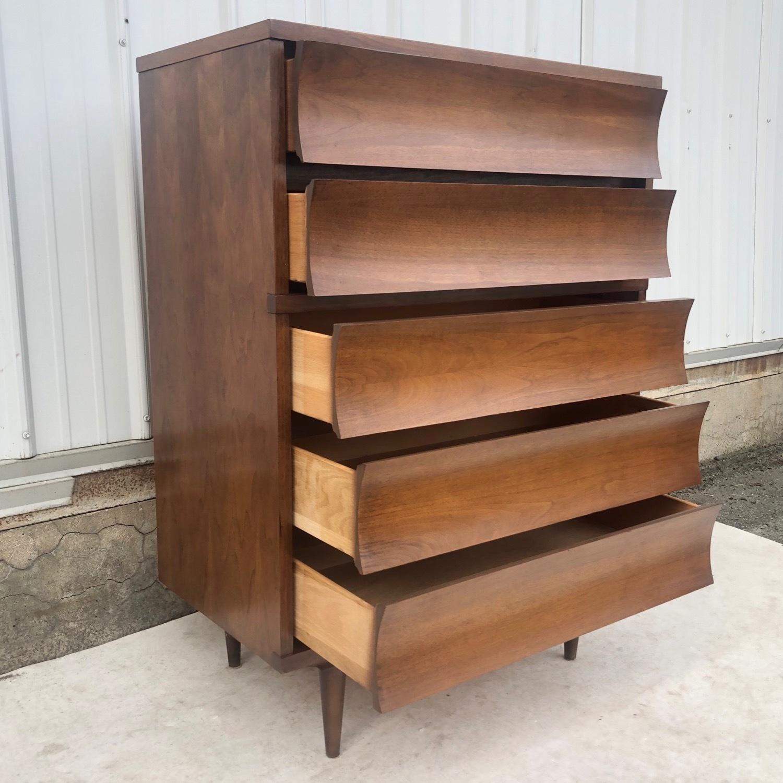 Mid-Century Highboy Dresser - image-8