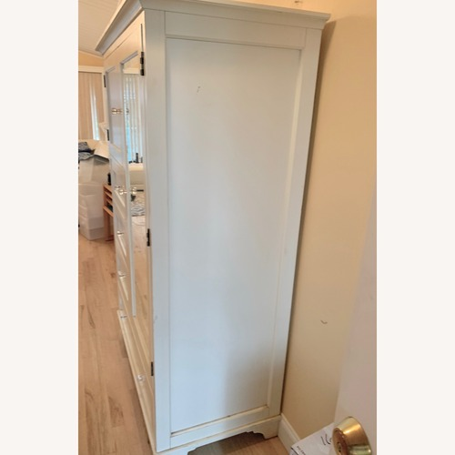 Used Pottery Barn White Armoire Roomy & Sturdy for sale on AptDeco
