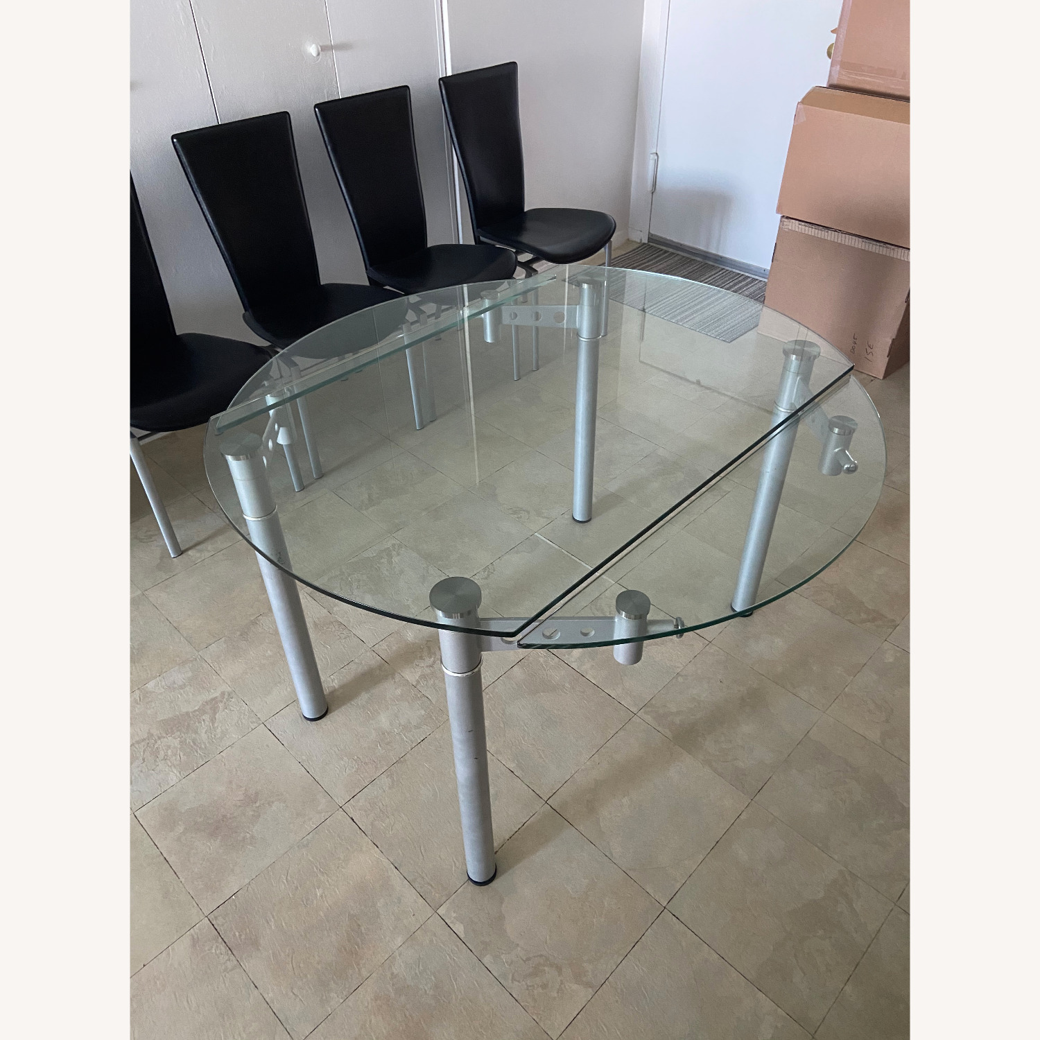 Glass Dining Table with 4 Chairs - image-12