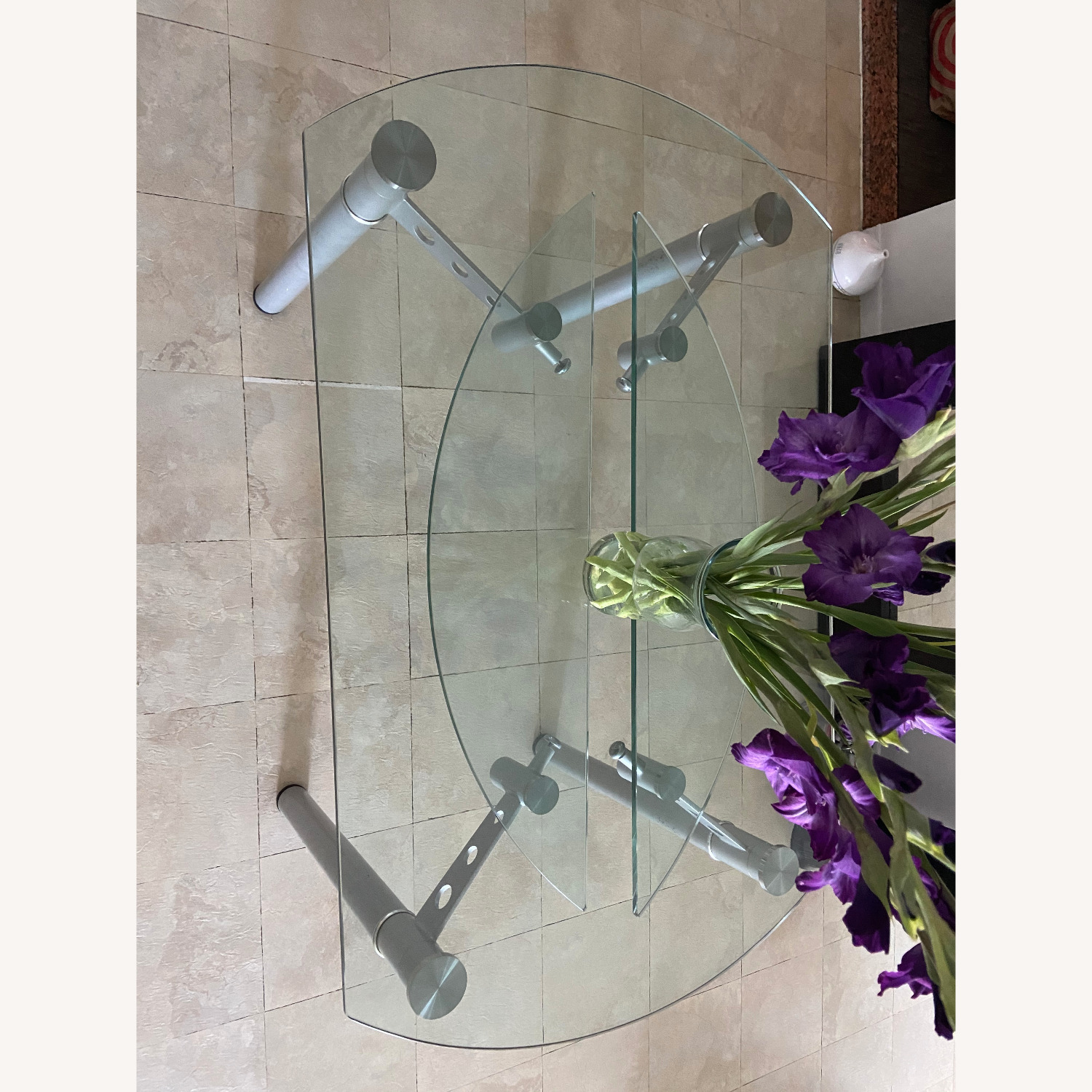 Glass Dining Table with 4 Chairs - image-7