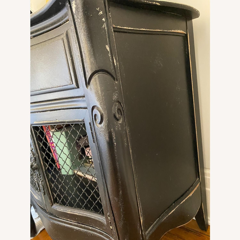 French Provincial Caged Door Nightstands - image-6