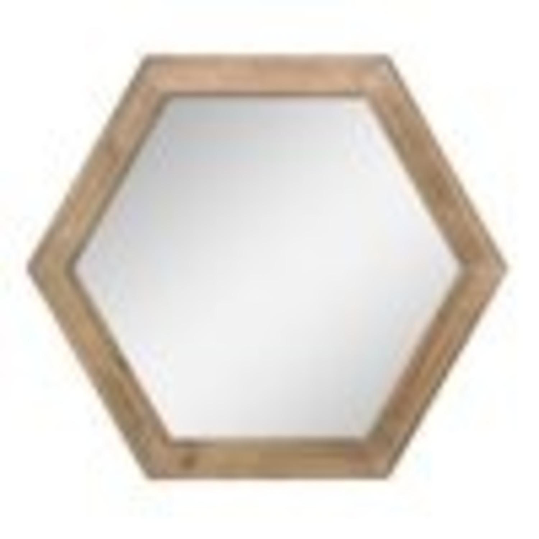 Walmart Set of 3 Hexagon Mirrors - image-3