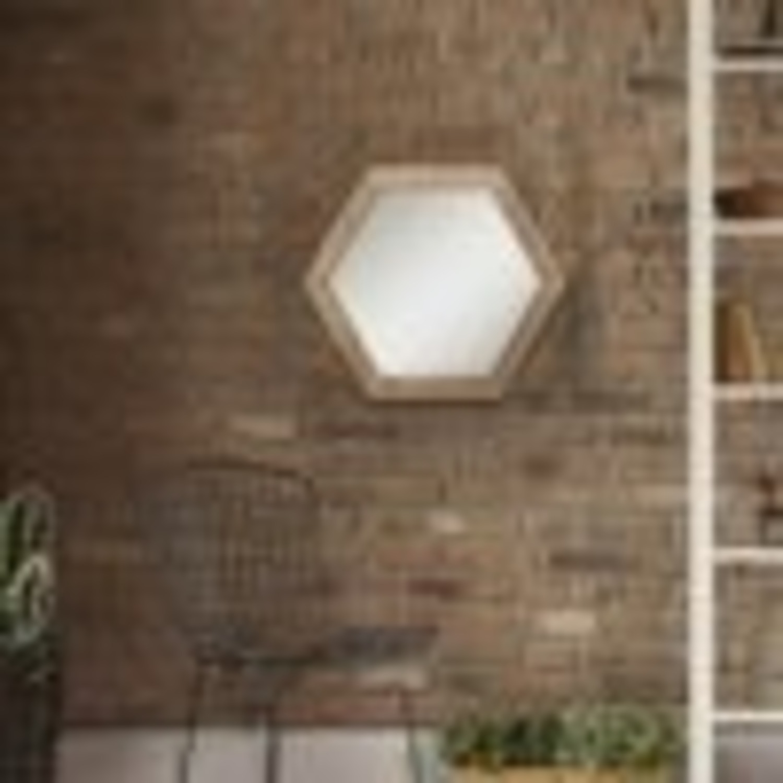 Walmart Set of 3 Hexagon Mirrors - image-2
