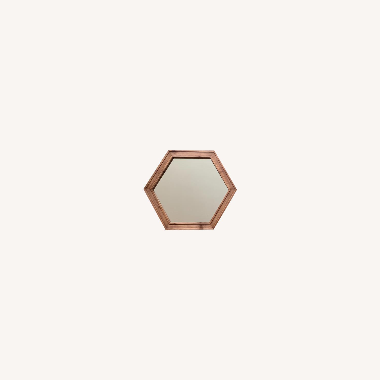 Walmart Set of 3 Hexagon Mirrors - image-0