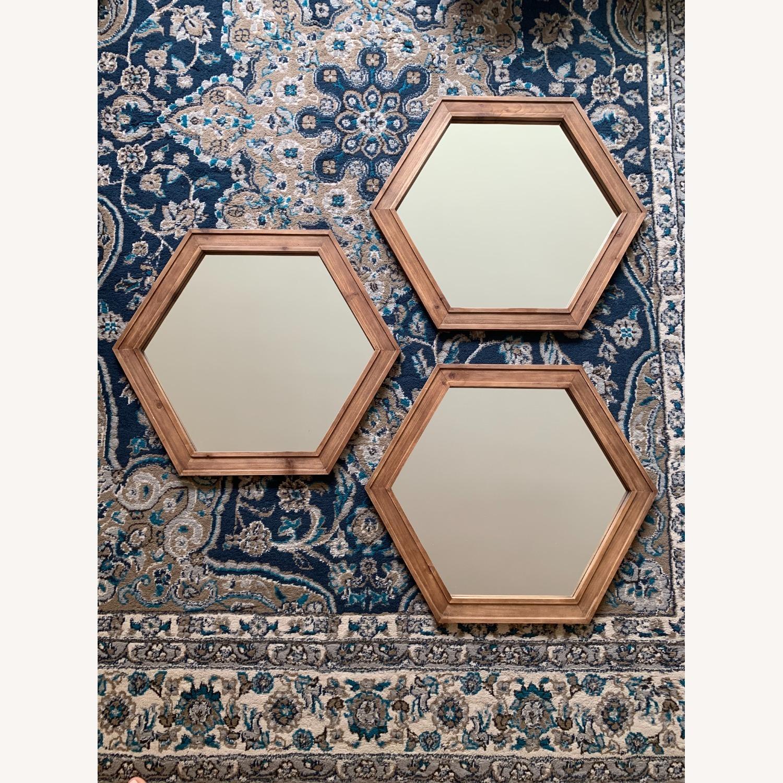Walmart Set of 3 Hexagon Mirrors - image-1