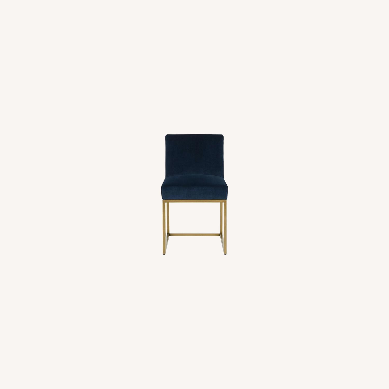 Article Blue Velvet Chair - image-0