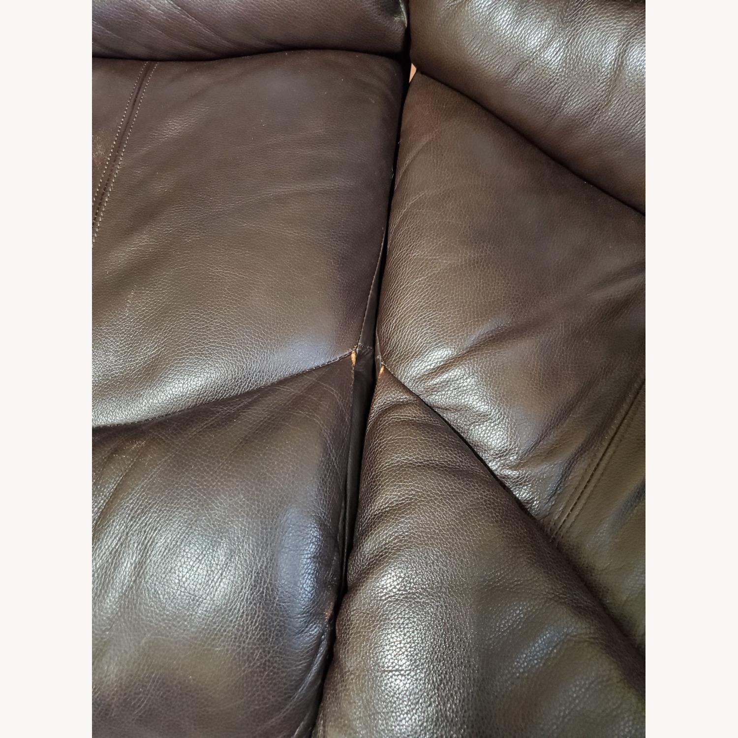 Power Reclining Leather Couch with Chaise - image-4