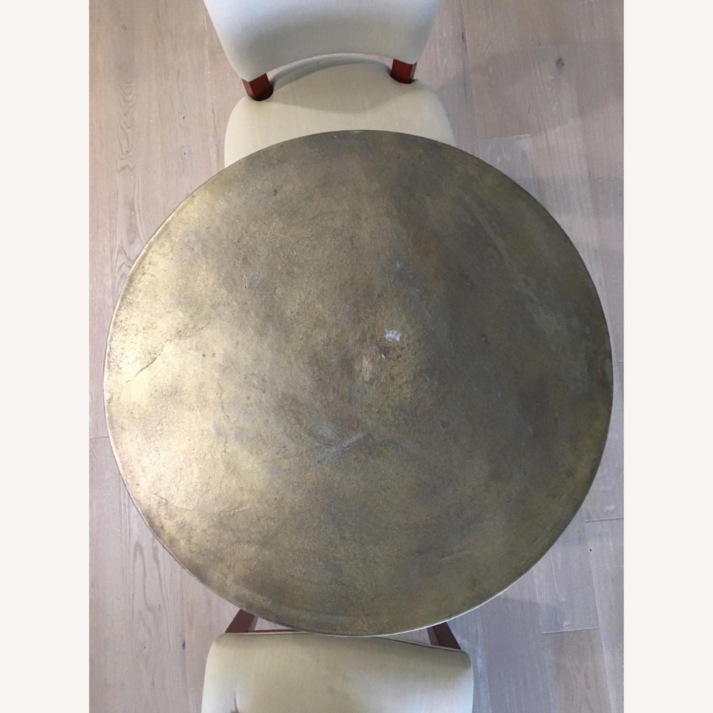 Antiqued Brass Finish Metal Bistro Table - image-8