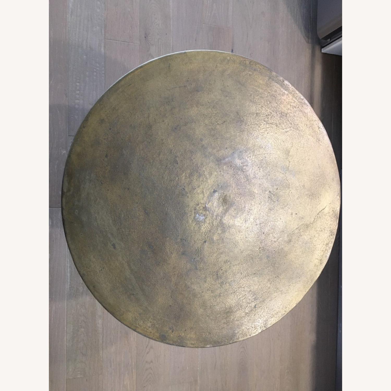 Antiqued Brass Finish Metal Bistro Table - image-9