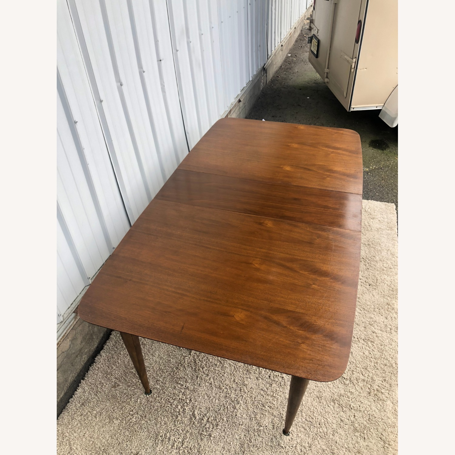 Mid Century Walnut Dining Table with One Leaf - image-13