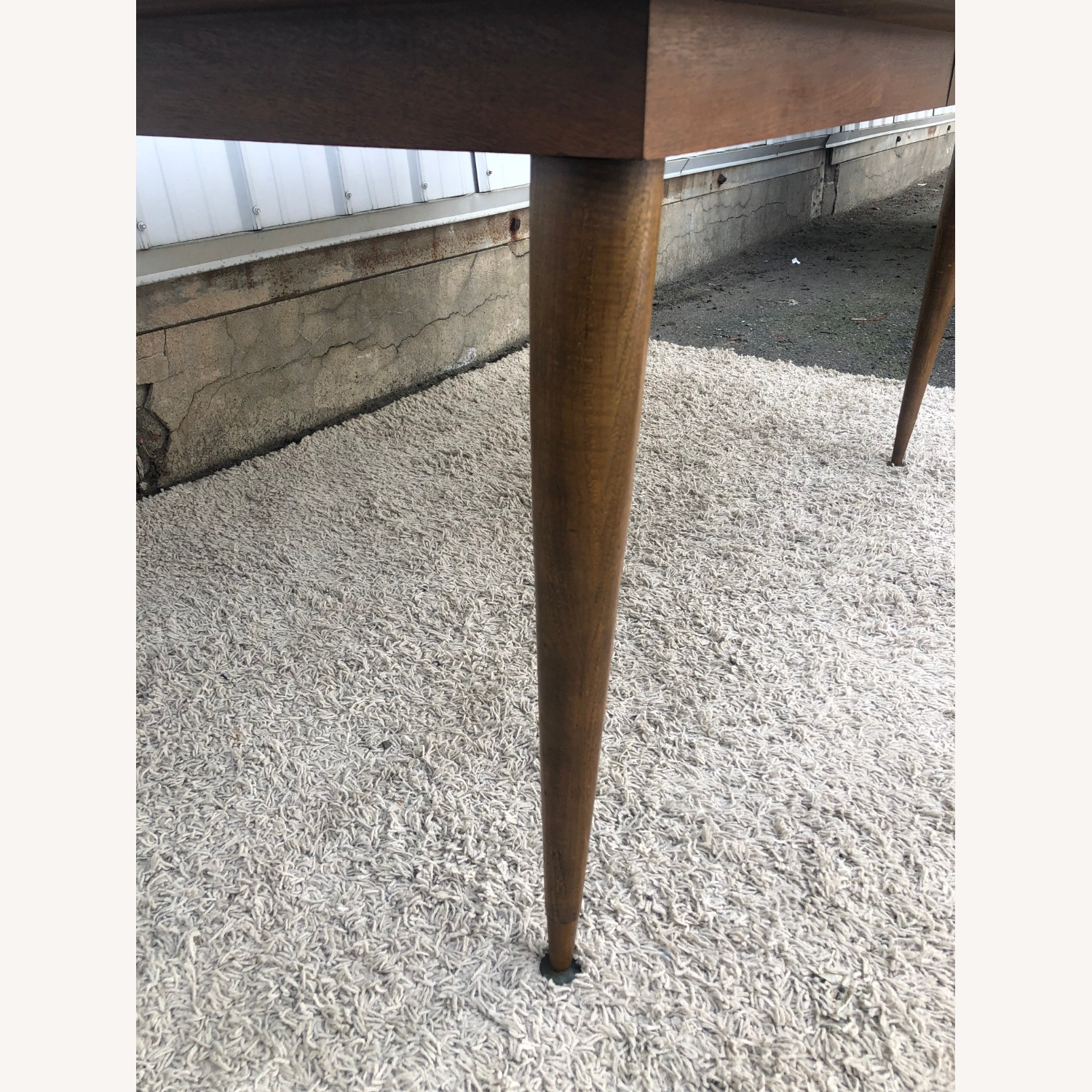 Mid Century Walnut Dining Table with One Leaf - image-5