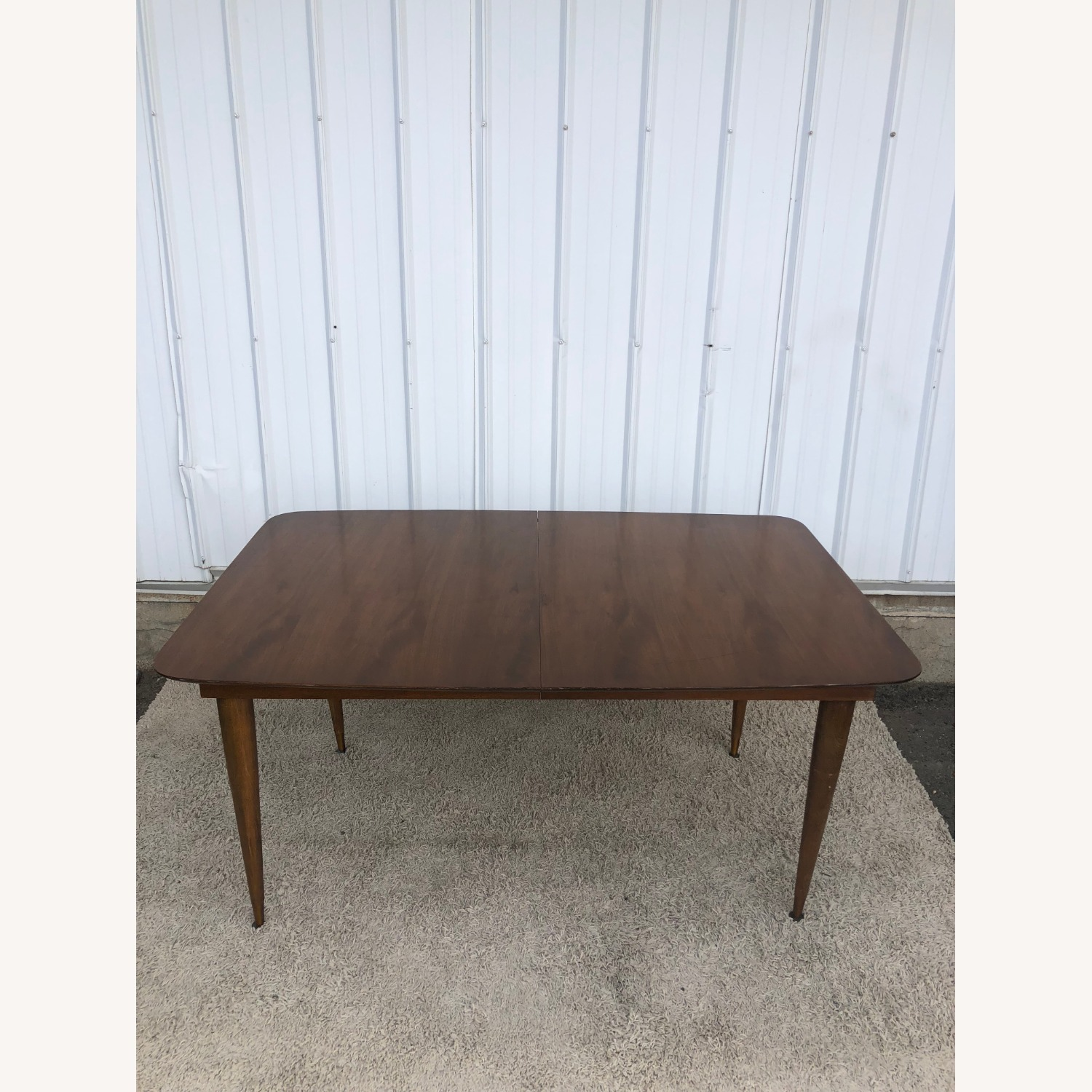 Mid Century Walnut Dining Table with One Leaf - image-2