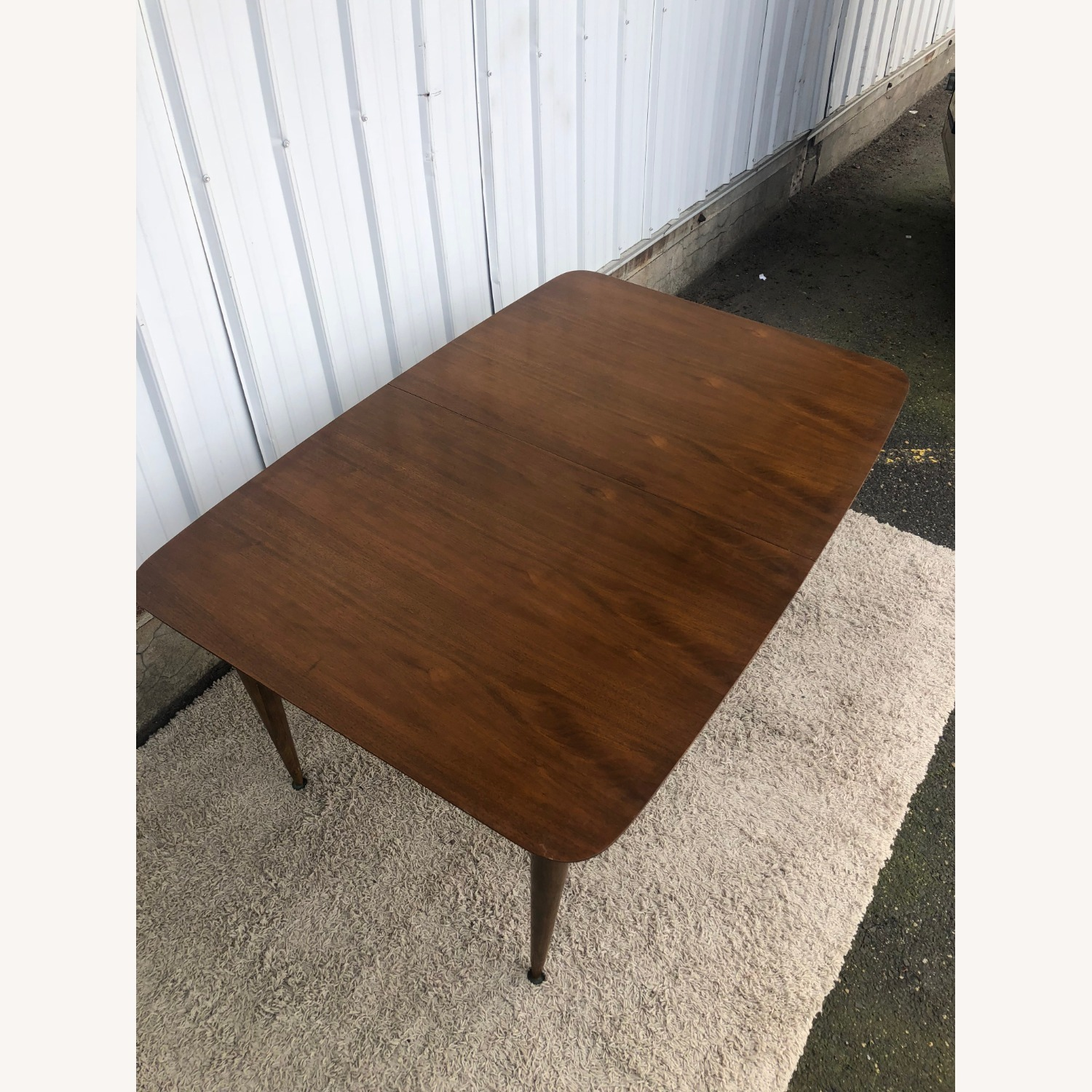 Mid Century Walnut Dining Table with One Leaf - image-4