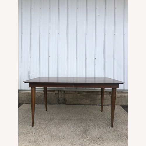 Used Mid Century Walnut Dining Table with One Leaf for sale on AptDeco