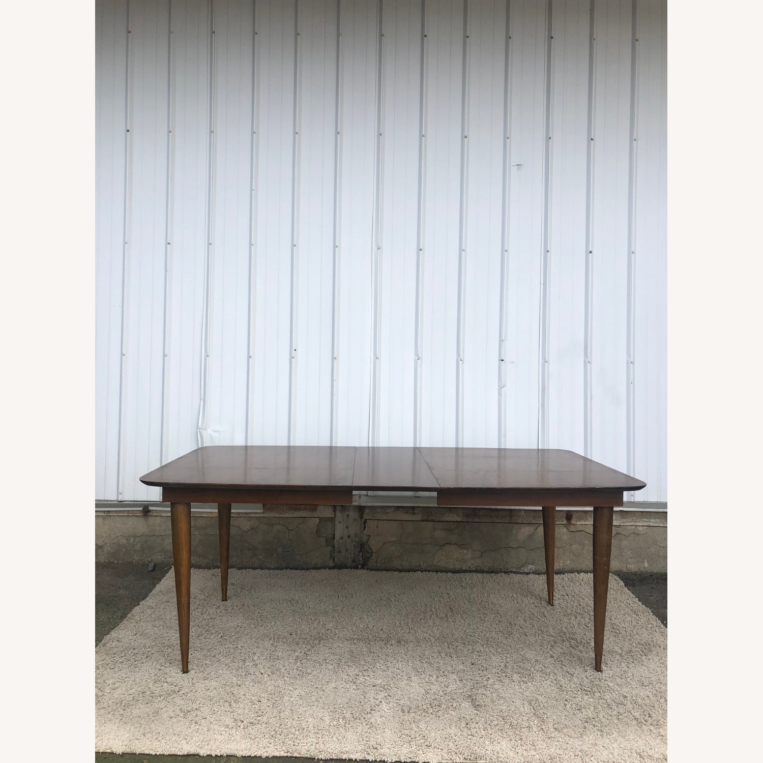 Mid Century Walnut Dining Table with One Leaf - image-10