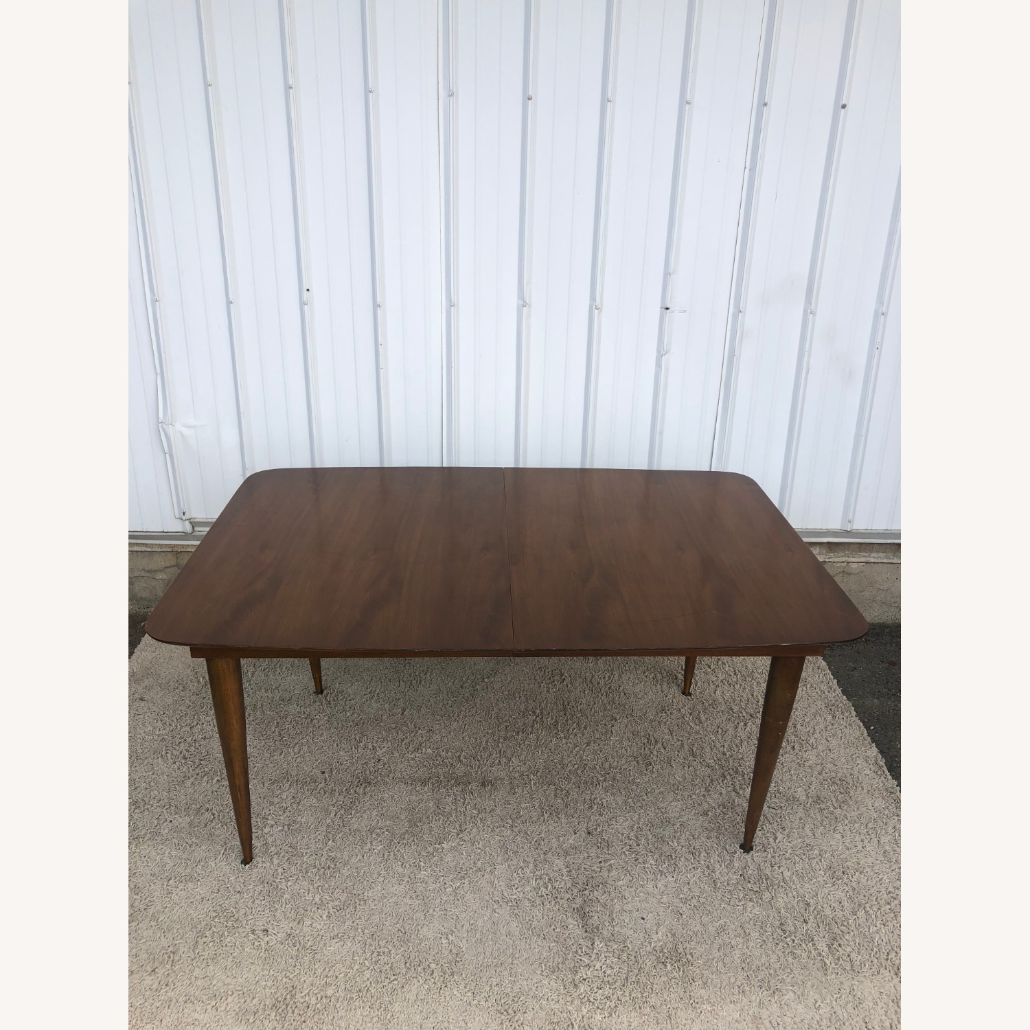 Mid Century Walnut Dining Table with One Leaf - image-6