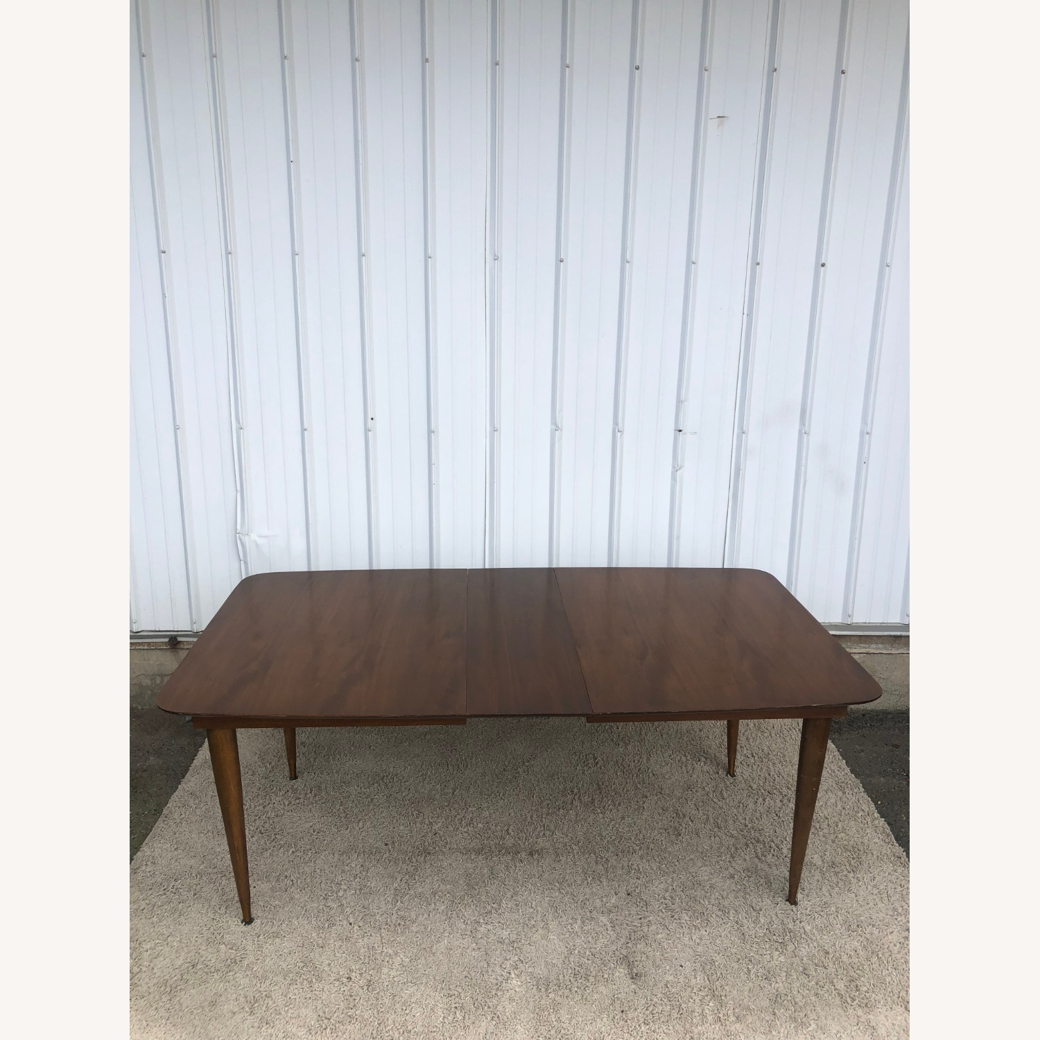 Mid Century Walnut Dining Table with One Leaf - image-12
