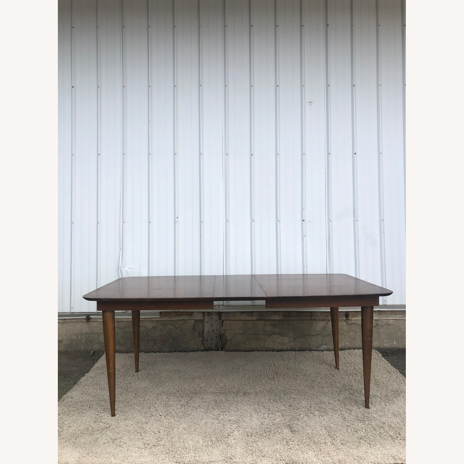 Mid Century Walnut Dining Table with One Leaf - image-11