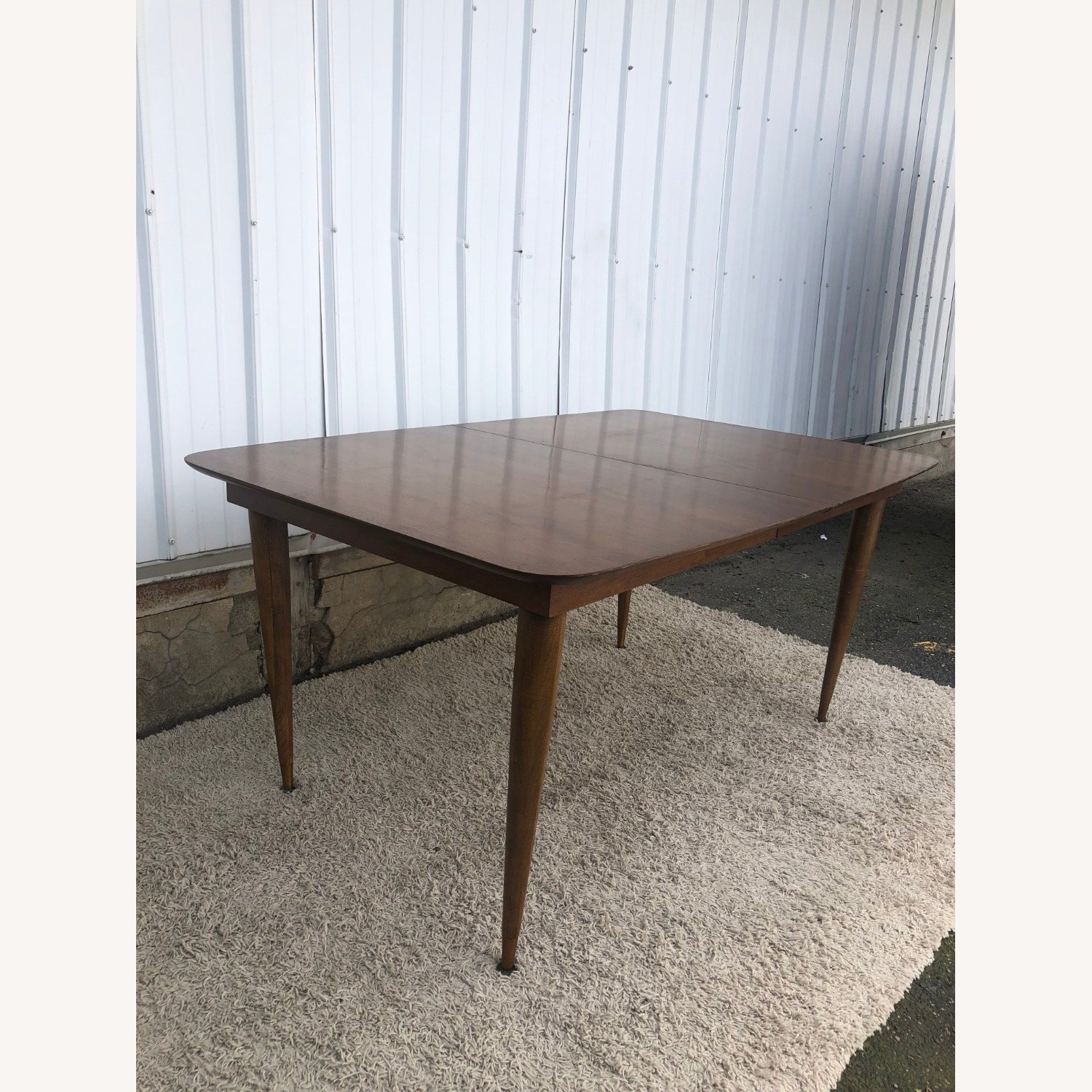 Mid Century Walnut Dining Table with One Leaf - image-3