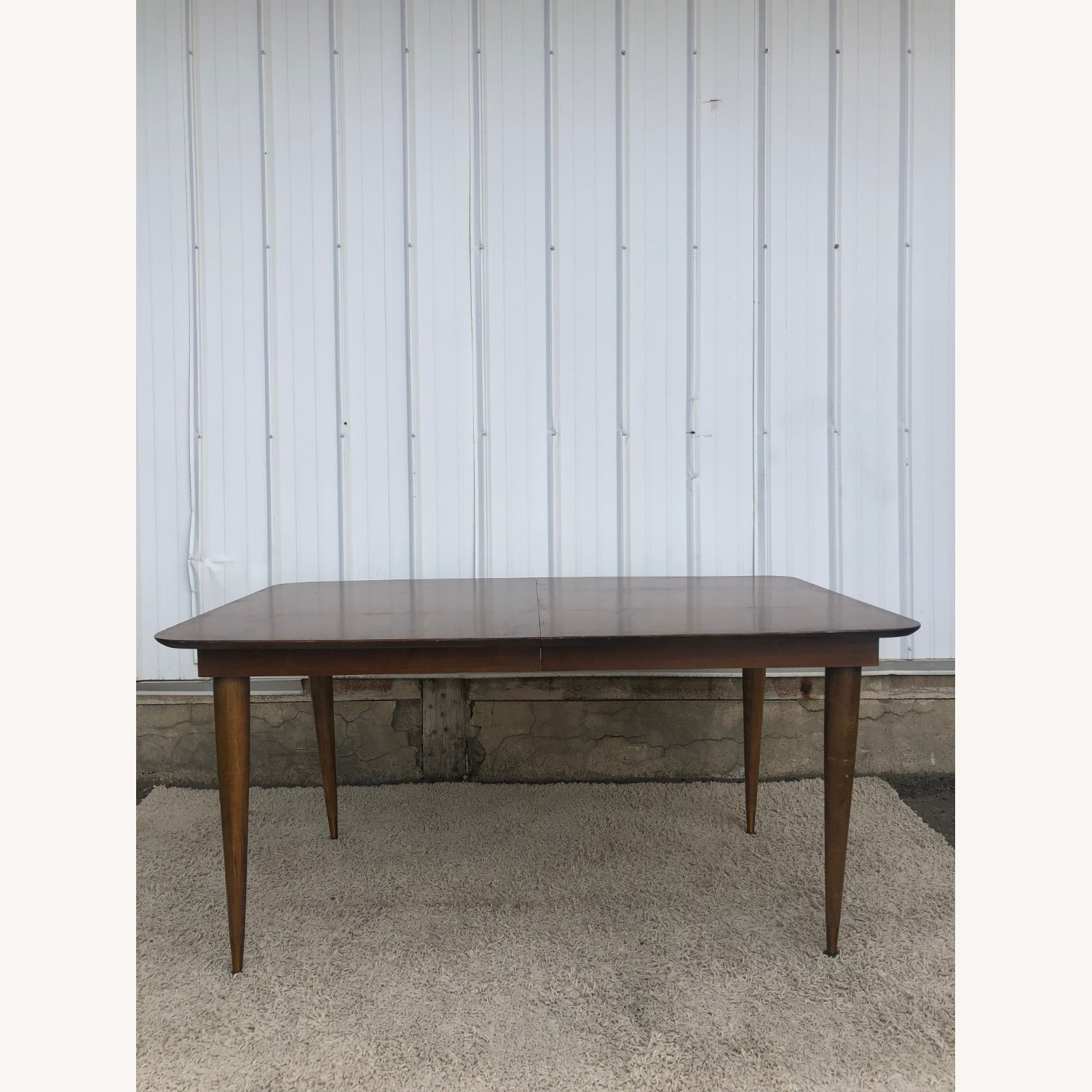 Mid Century Walnut Dining Table with One Leaf - image-8