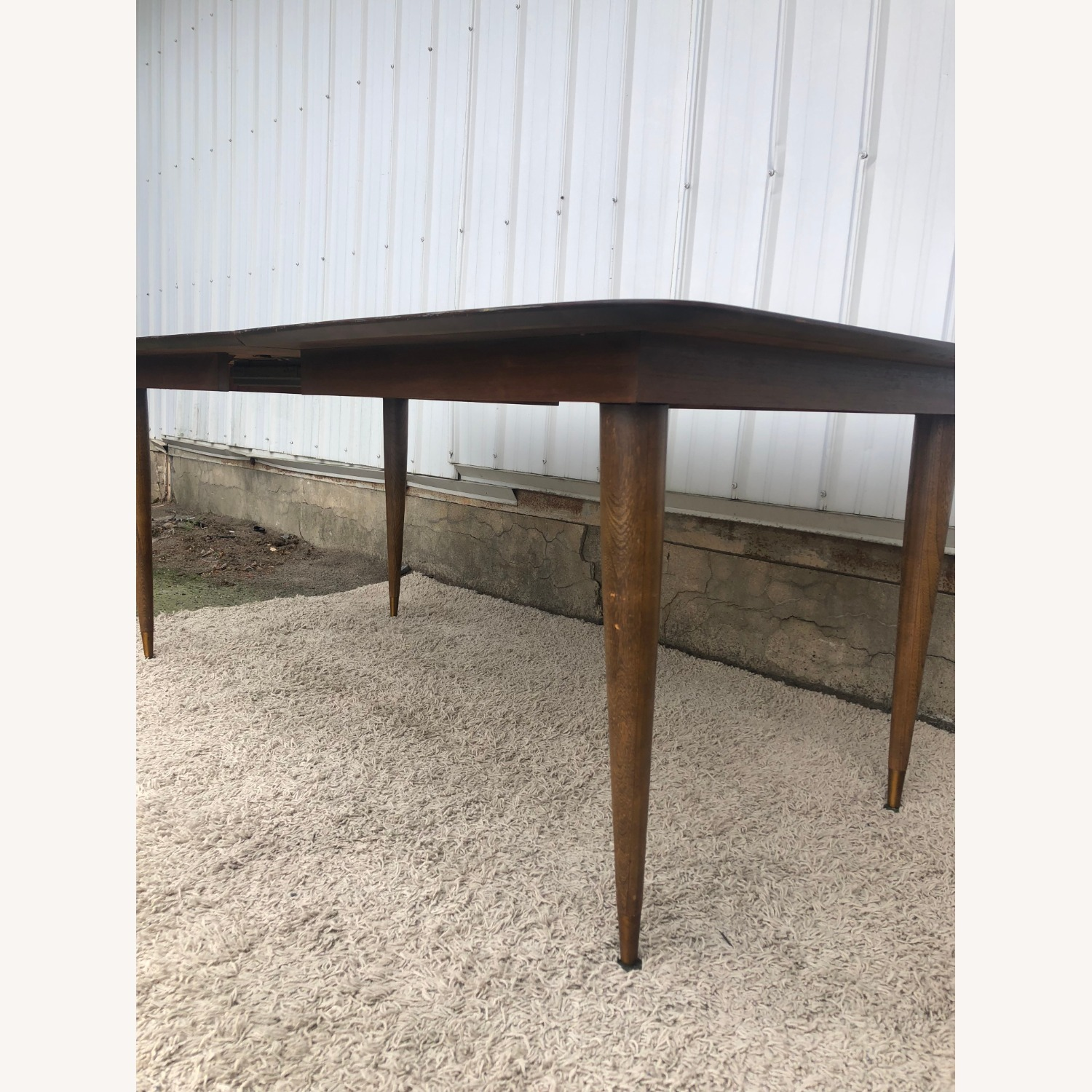 Mid Century Walnut Dining Table with One Leaf - image-17
