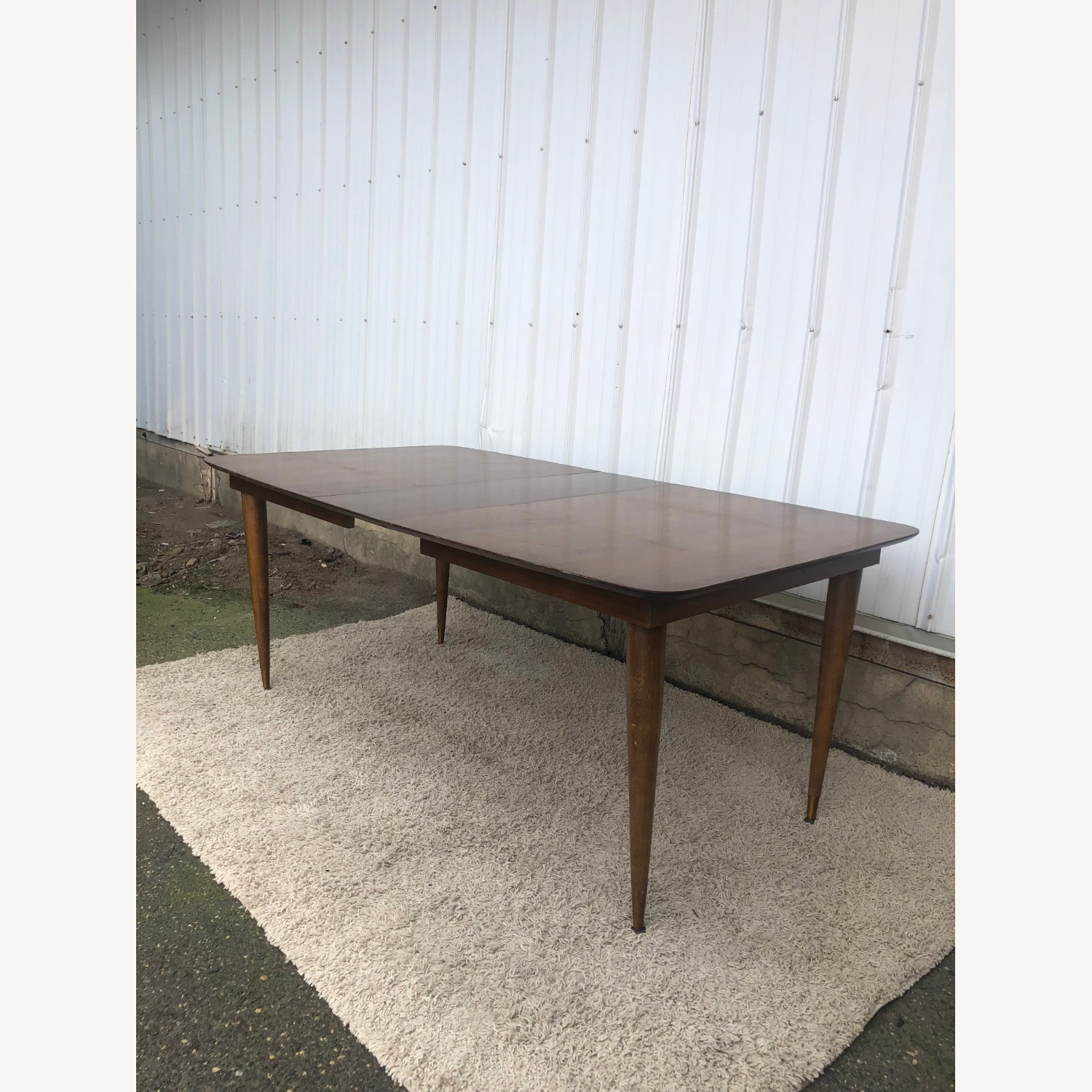 Mid Century Walnut Dining Table with One Leaf - image-15