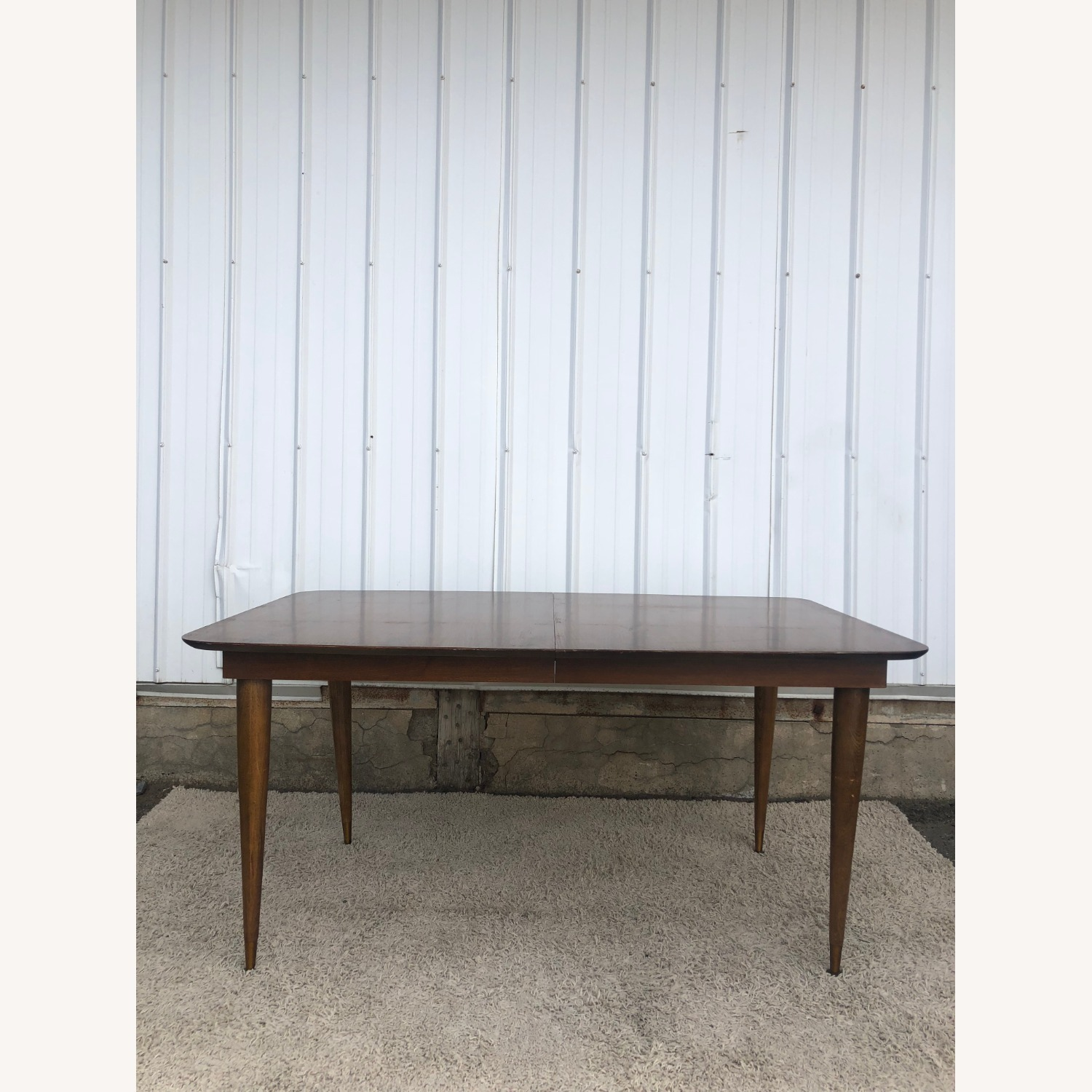 Mid Century Walnut Dining Table with One Leaf - image-7