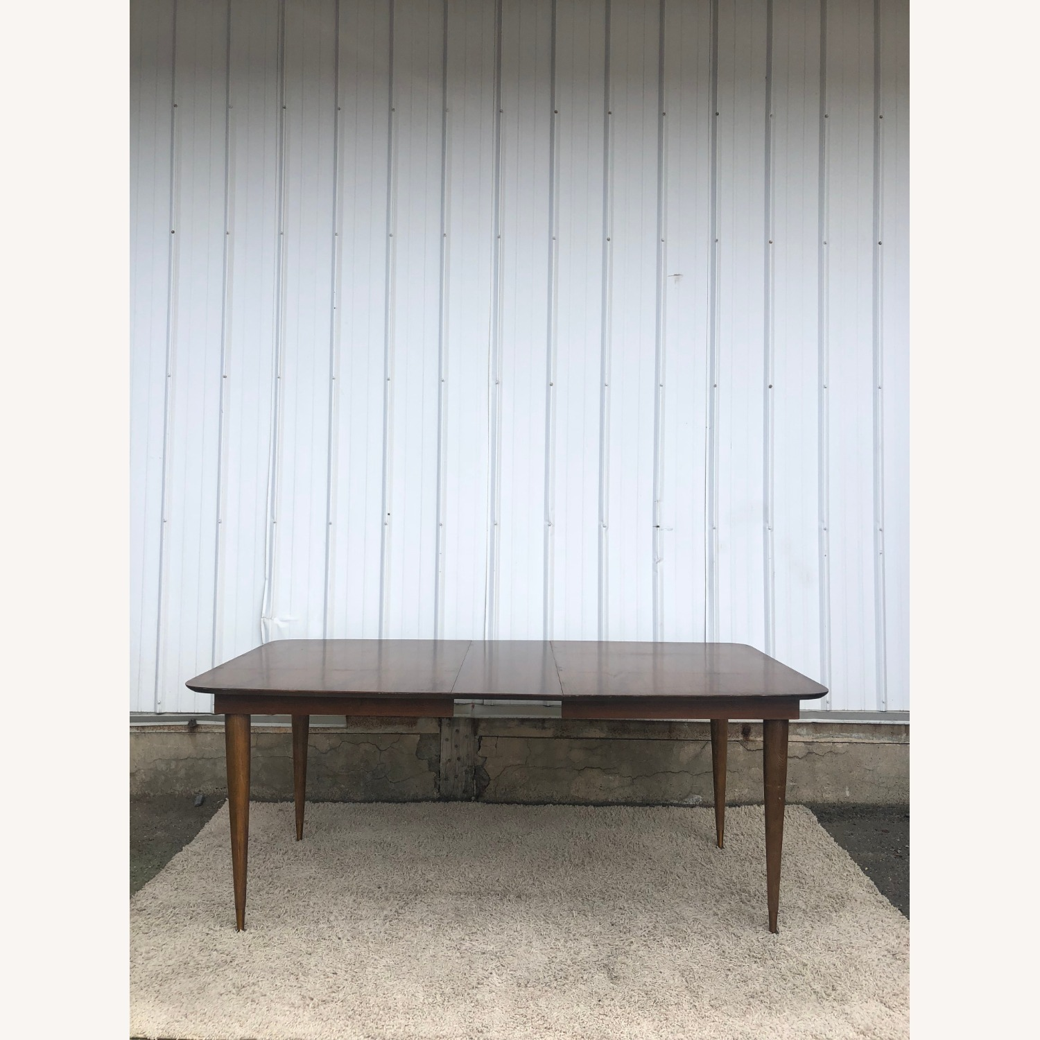Mid Century Walnut Dining Table with One Leaf - image-14
