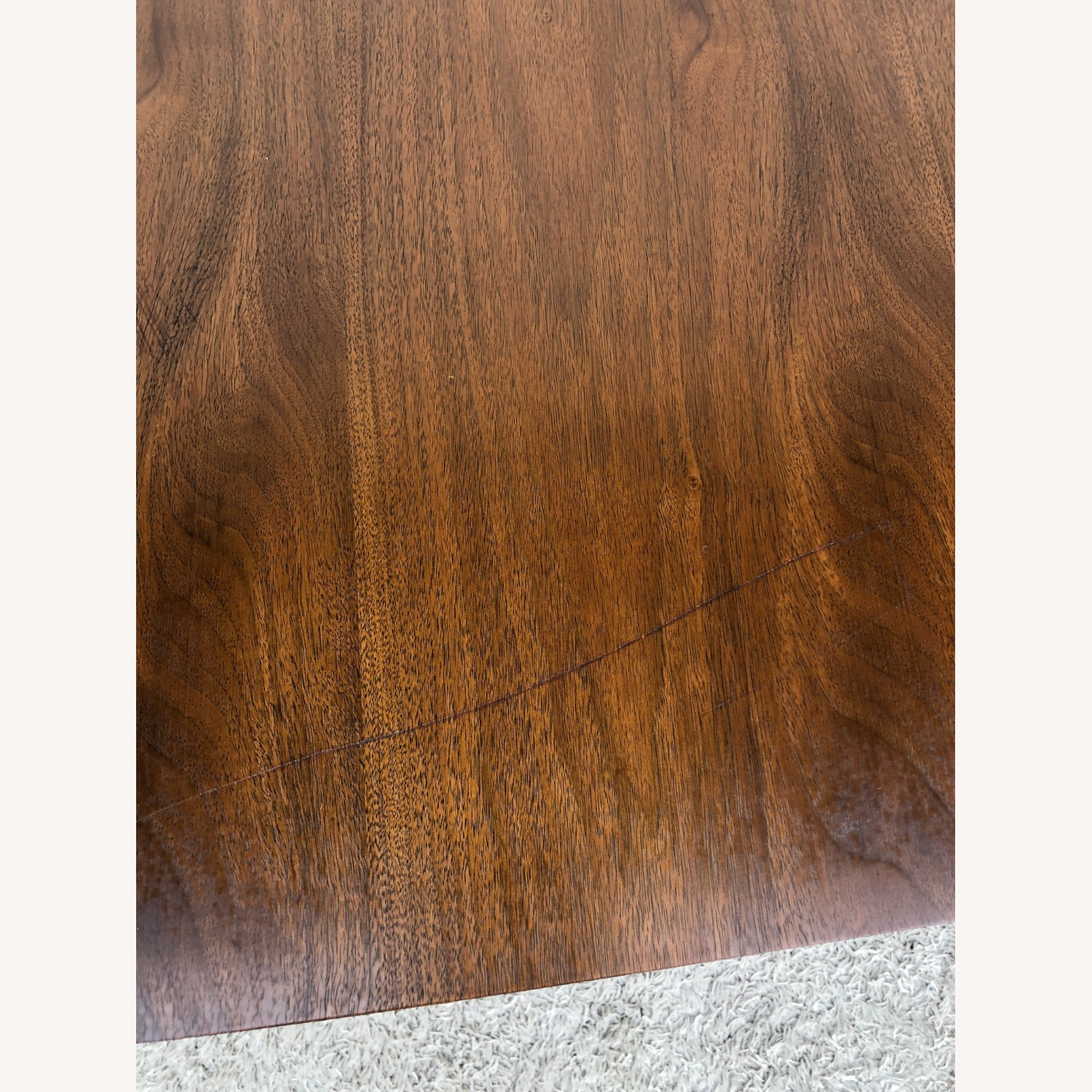 Mid Century Walnut Dining Table with One Leaf - image-9