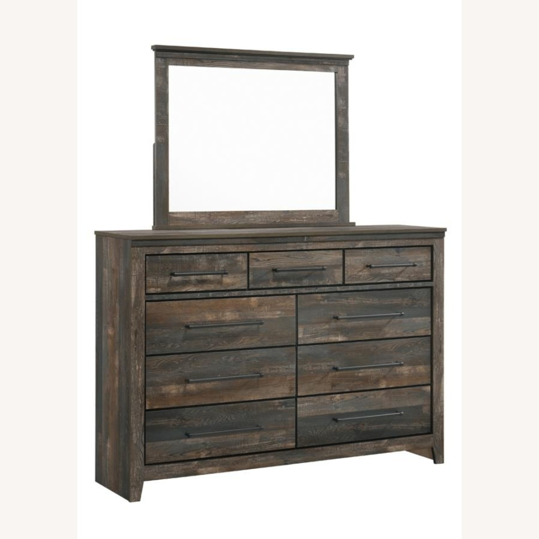 9-Drawer Dresser In Weathered Dark Brown - image-1