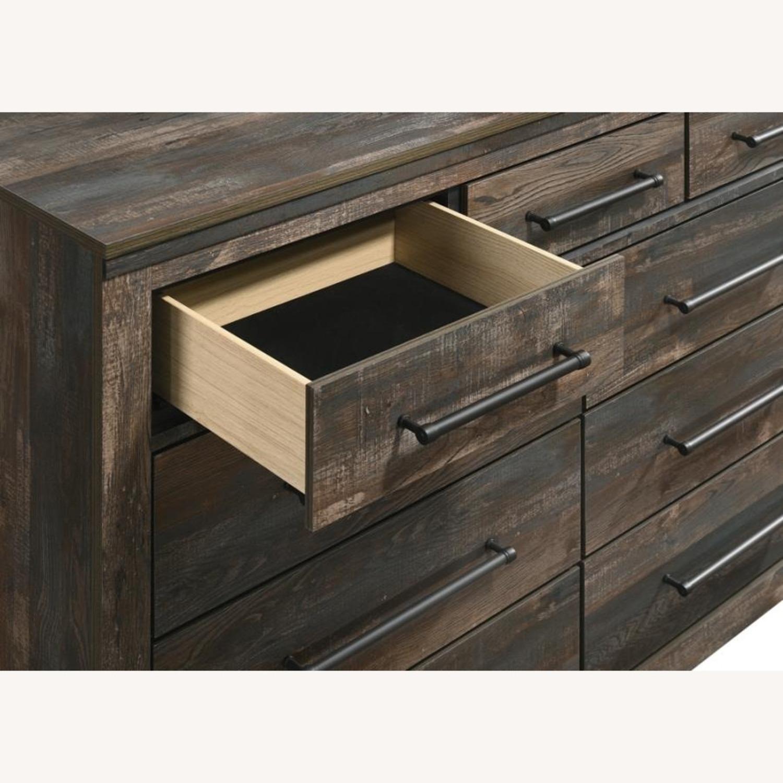 9-Drawer Dresser In Weathered Dark Brown - image-2