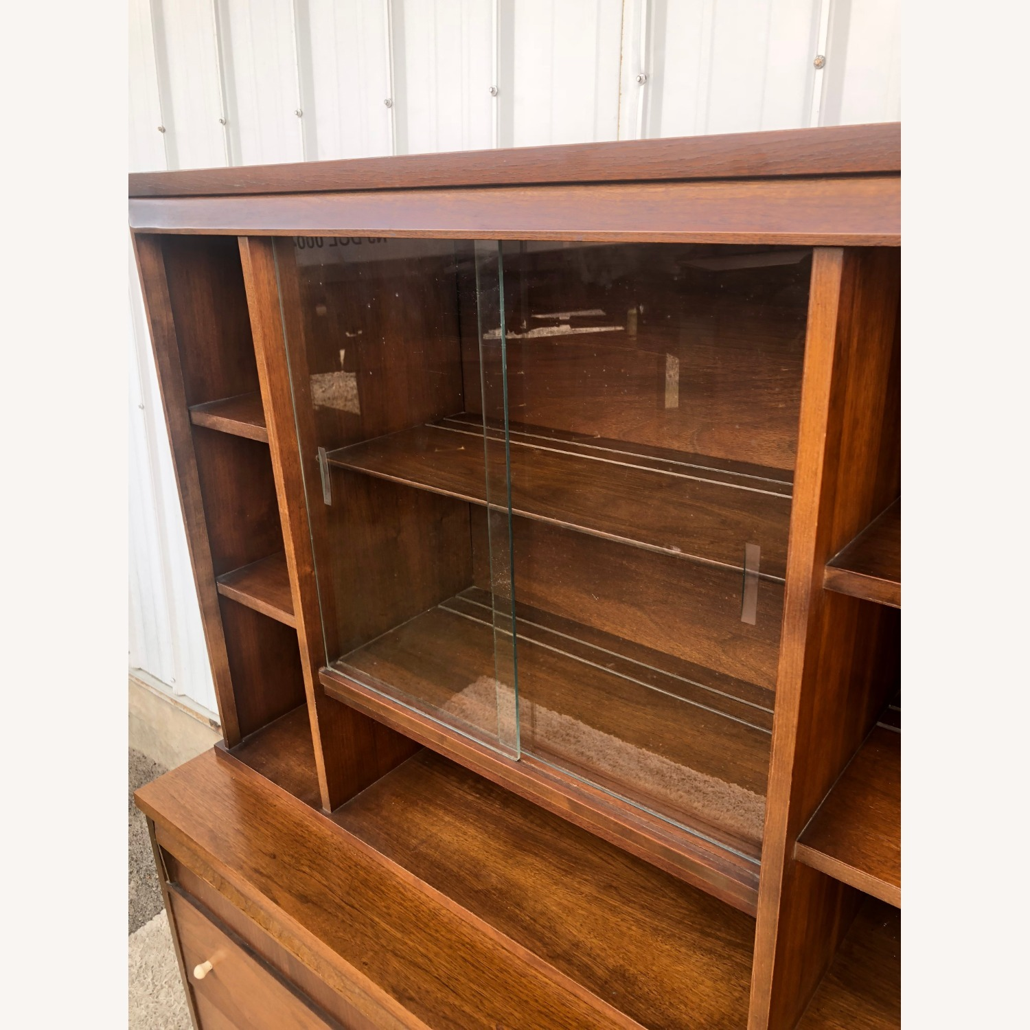 Mid Century Two Piece China Cabinet - image-13