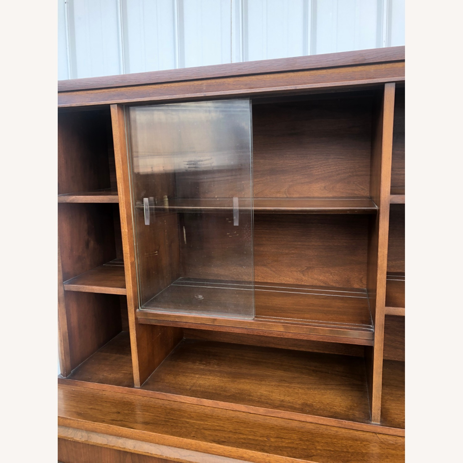 Mid Century Two Piece China Cabinet - image-15