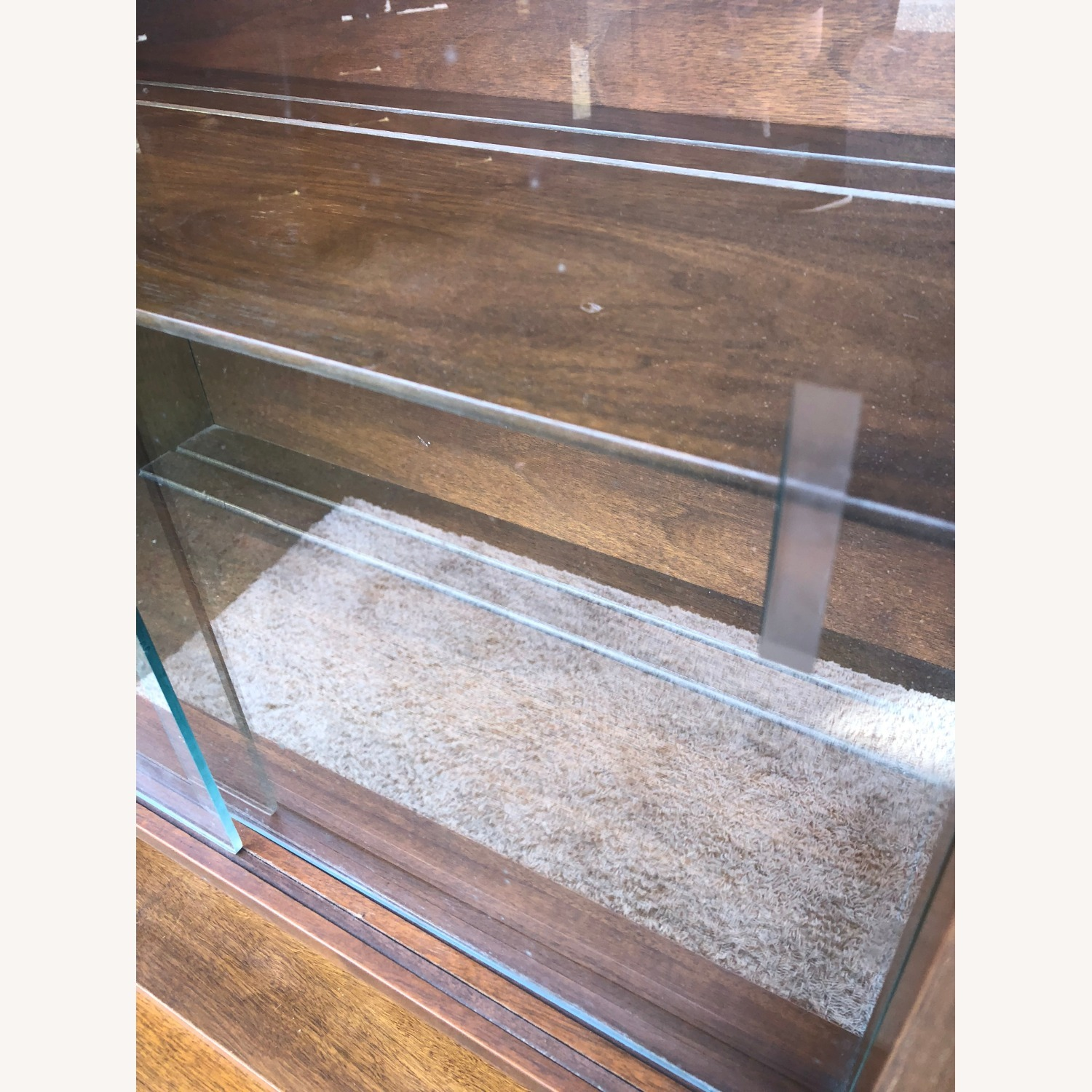 Mid Century Two Piece China Cabinet - image-14