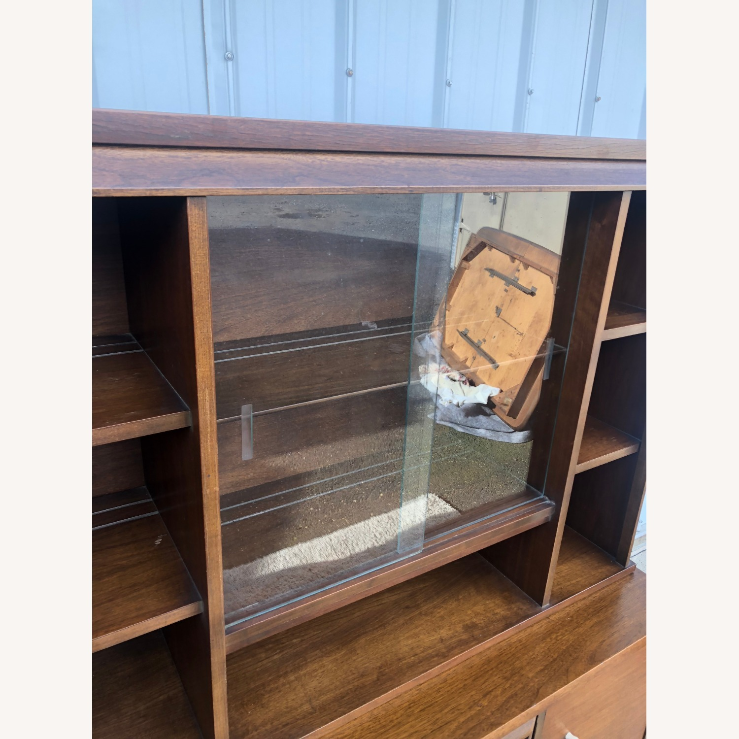 Mid Century Two Piece China Cabinet - image-12
