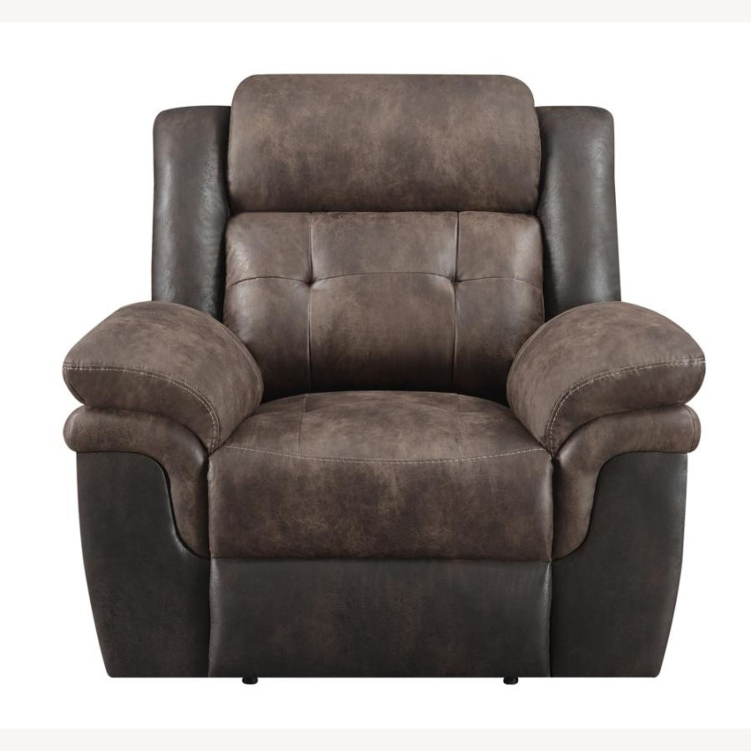 Recliner In Chocolate & Dark Brown Upholstery - image-2