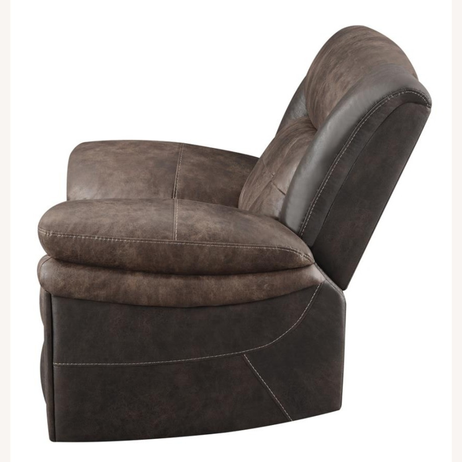 Power Recliner W/ Power Outlet In Chocolate Finish - image-2
