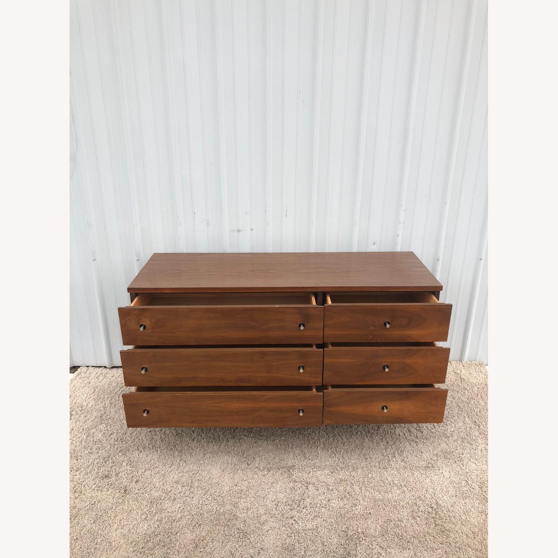 Mid Century Six Drawer Dresser with Mirror - image-9