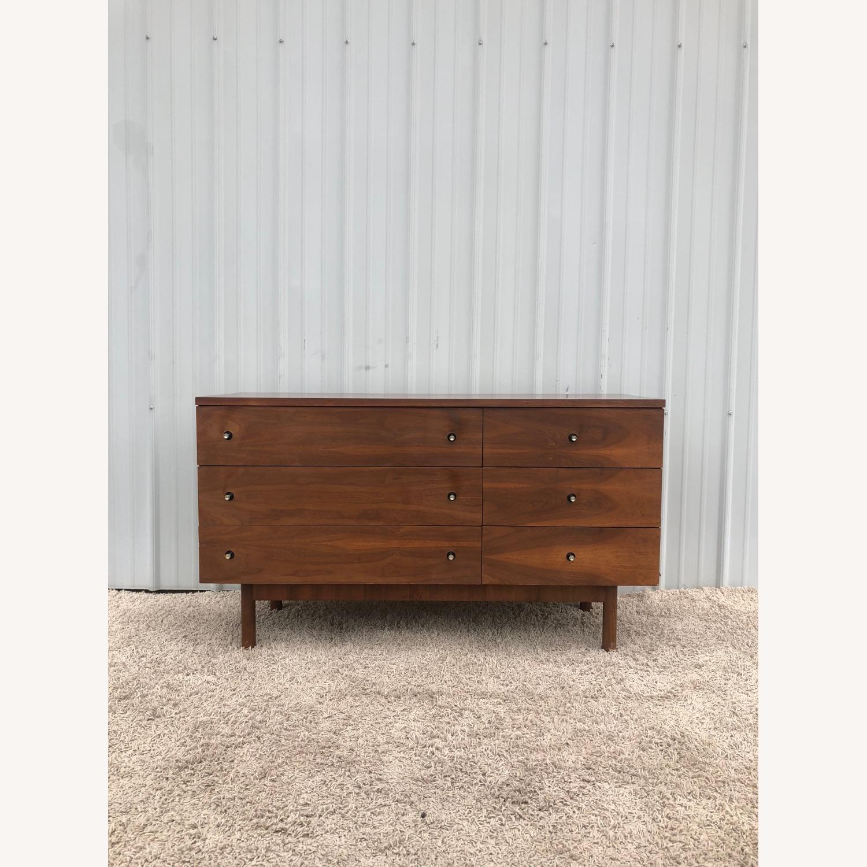 Mid Century Six Drawer Dresser with Mirror - image-4