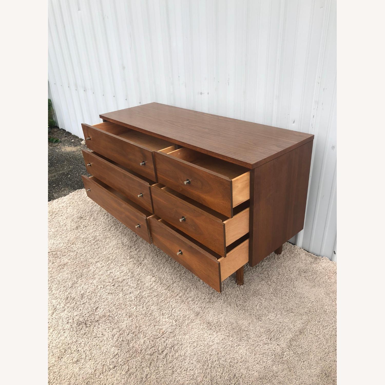 Mid Century Six Drawer Dresser with Mirror - image-11