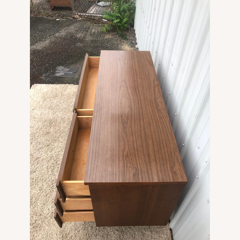 Mid Century Six Drawer Dresser with Mirror - image-12