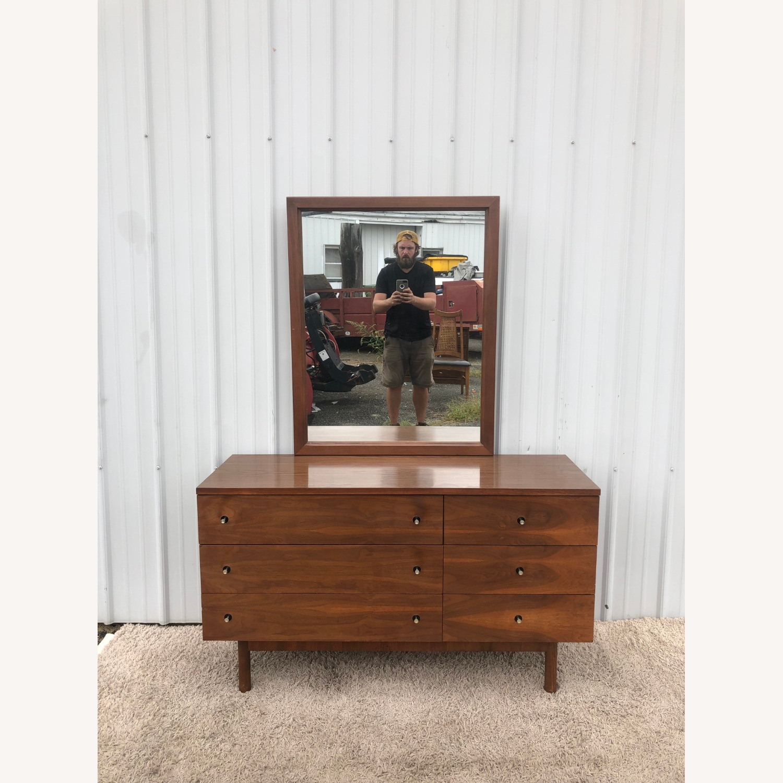 Mid Century Six Drawer Dresser with Mirror - image-26