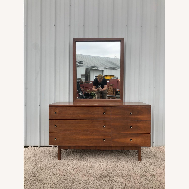 Mid Century Six Drawer Dresser with Mirror - image-25