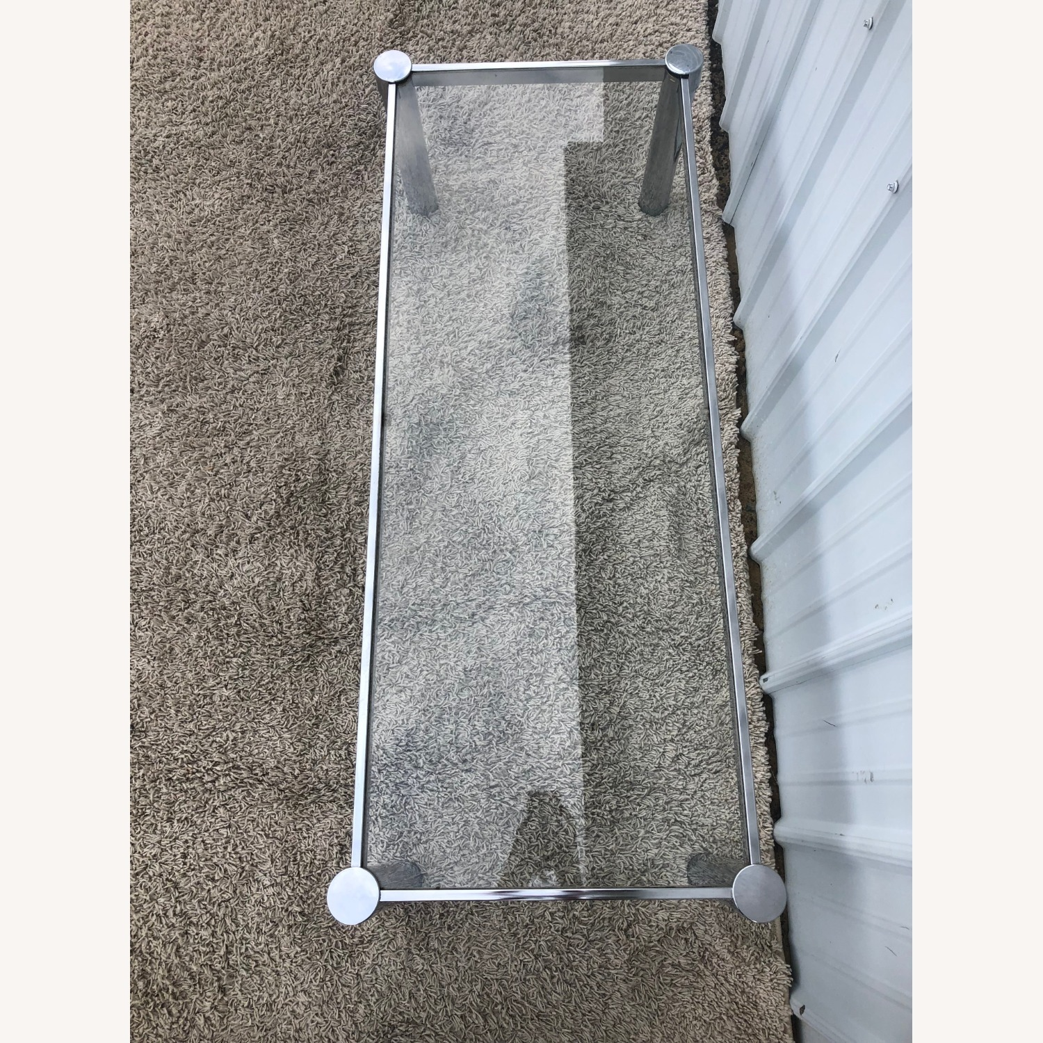 Mid Century Chrome and Glass Coffee Table - image-5