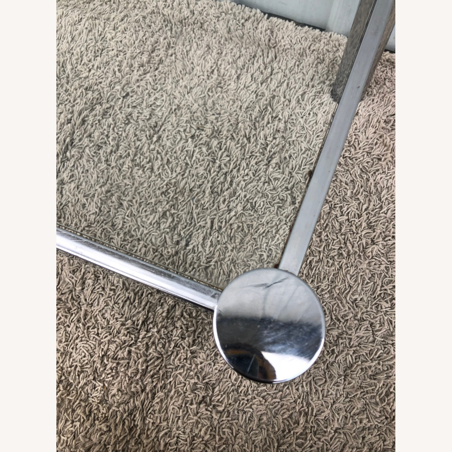 Mid Century Chrome and Glass Coffee Table - image-8