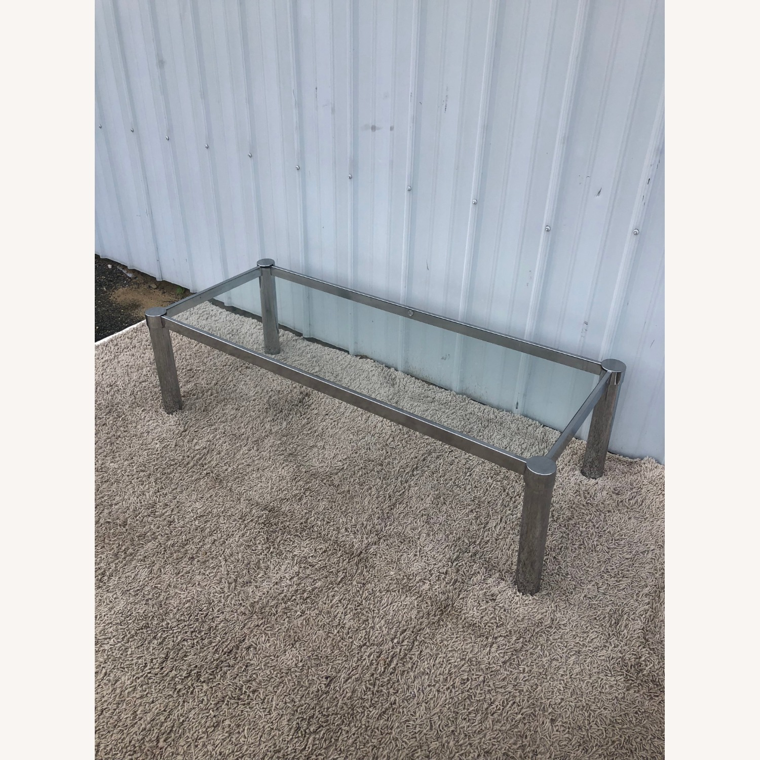 Mid Century Chrome and Glass Coffee Table - image-4