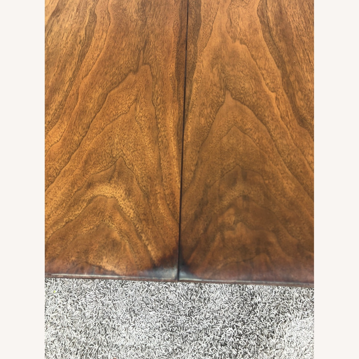 Mid Century Walnut Dining Table with 2 Leafs - image-5