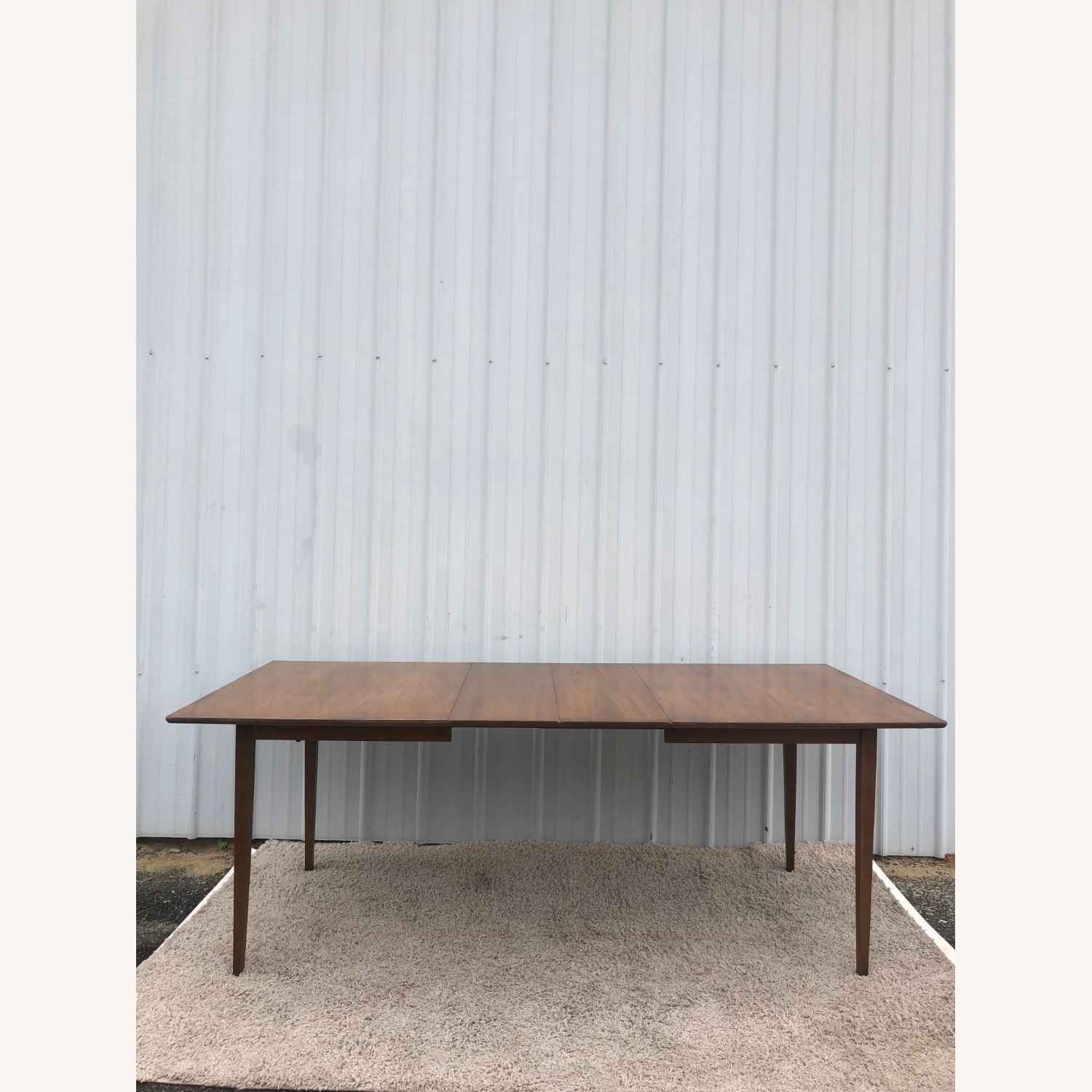 Mid Century Walnut Dining Table with 2 Leafs - image-14